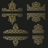 Line art set. Decorative frames for your design. Royalty Free Stock Photos