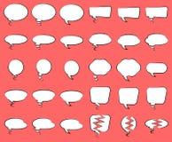 Line Art Speech Bubbles. Vector Illustration Of A Set Of Line Art Speech Bubbles Royalty Free Stock Photos