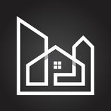 LINE ART STYLE REAL ESTATE & MORTGAGE COMPANY LOGO Stock Photo