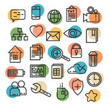 Line art thin business icons. Collection Royalty Free Stock Image