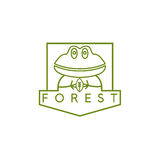 Line art vector crest with simple Royalty Free Stock Photo