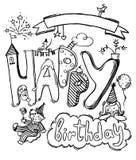 Line art vector hand drawn Doodle cartoon set of holidays objects and symbols. Line art vector hand-drawn Doodle cartoon set of festive objects and symbols of stock illustration