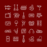 Line Art Vector Icon Set Stock Images