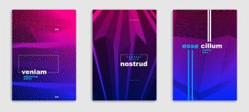 Line art vector minimalistic modern brochures set design, cover vector illustration