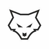 Line art wolf logo Royalty Free Stock Photography