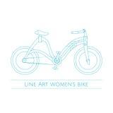 Line Art Womens Bike Two Stock Photos