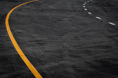 Line in the asphalt road Stock Photography