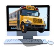 On-line-Ausbildungsunterricht mit dem Technologielernen Stockbild