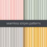 Line backgrounds set. Pink green grey yellow and white stripes vector. Seamless abstract pattern illustration. Line backgrounds set. Stripes vector. Seamless Royalty Free Stock Image