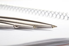 Line of ball-point pens Royalty Free Stock Photo
