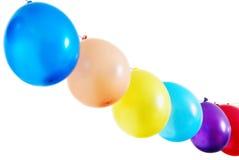 Line of balloons stock photo