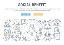 Free Line Banner Of The Social Benefit. Stock Photos - 126848533
