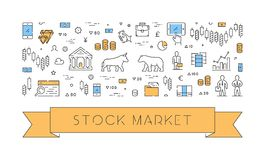Line  banner for stock market Stock Photo