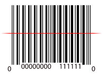 Line on barcode Royalty Free Stock Photography