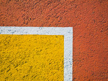 Line on a basketball court. Royalty Free Stock Photos
