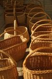 Line of baskets Stock Images
