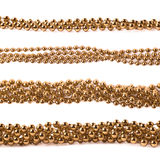 Line of beads garland thread isolated Royalty Free Stock Images
