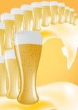 Line of beers stock photo