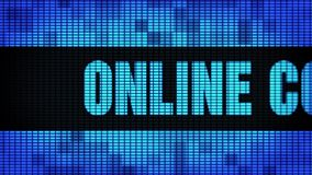 On-line-Beratungswand-Anzeigetafel-Zeichen-Brett Front Text Scrollings LED stock video