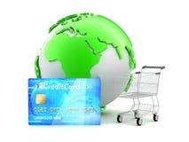 On-line betalningar - begreppsillustration Arkivfoton