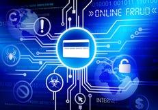 On-line-Betrugskreditkartevektor Lizenzfreies Stockfoto