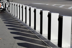 Line of bicycle parking slots Royalty Free Stock Image