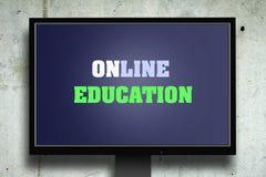 On-line-Bildung, die Aufschrift auf dem Bildschirm Das Konzept der Bildung Stockfotos