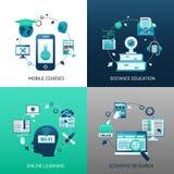 On-line-Bildungs-Konzept des Entwurfes Stockbild