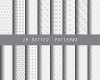 Line black and white pattern set. 9 different patterns. soft gray geometrical texture, can be used for wallpaper, pattern fills, web page background Stock Photography