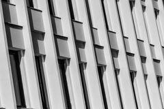 Line Of Black Windows On Modern White Building Royalty Free Stock Images