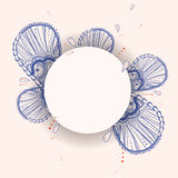 Line blue flowers background Royalty Free Stock Photo