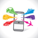 On-line booking services of transport stock  Royalty Free Stock Photo
