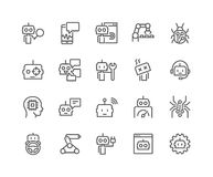 Line Bot Icons stock illustration
