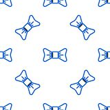 Line Bow tie icon isolated seamless pattern on white background. Colorful outline concept. Vector