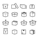 Line box vector icons Stock Photos