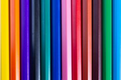 Line of bright color pencil are used as background images royalty free stock images