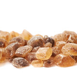 Line of brown rock sugar Stock Photography