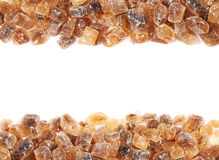 Line of brown rock sugar Stock Images