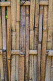 The line of brown wood. For background Royalty Free Stock Image