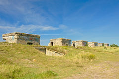 Line of bunkers at Karostaold military base, Liepaja Royalty Free Stock Image