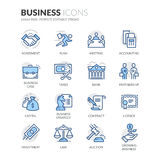 Line Business Icons Royalty Free Stock Photography