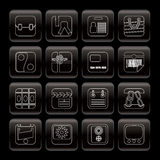 Line  Business and Internet Icons Stock Photography