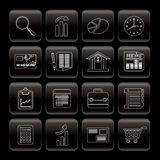Line Business and Office Internet Icons Royalty Free Stock Image