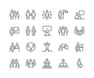 Line Business People Icons vector illustration