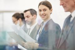 Line of Business People royalty free stock photography
