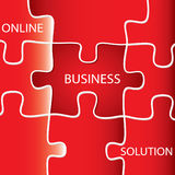 On line Business Solution Royalty Free Stock Photos
