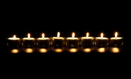 Line candles Stock Images