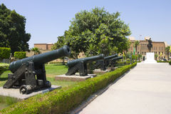 Line of cannons -  military museum - Cairo citadel Stock Photography
