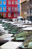 Line of Cars Royalty Free Stock Photos