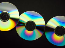 Line of CD's Royalty Free Stock Images